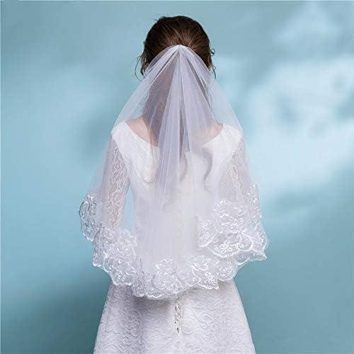 Bridal Veil Ivory Lace Spasm price Short Appliques Long Max 75% OFF Wedding C Elbow