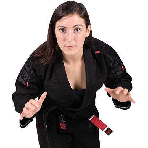 Tatami Fightwear Estilo BJJ Kimono, Mujer, Negro y Negro, F3C