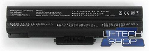 LI-TECH Batteria Compatibile Nero per CODICE Sony VGP-BPS13S 6 Celle Notebook 4.4Ah 48Wh