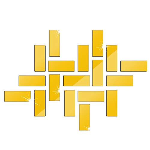 Venta caliente Simple Puzzle Espejo Etiqueta de La Pared Sof
