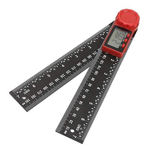 Durabilidad Herramienta de medición de ángulo de 360 Grados Goniómetro electrónico Alta precisión para Muebles de carpintería(300mm)
