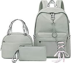 Hey Yoo School Backpack for Girls Women Children Kids Backpack School Bag Bookbag Set with Lunch Bag for Teen Girl (Grey)