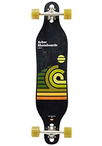 arbor Performance Complete Artist Draplin Axis 37 Kinder-Skateboard, Unisex, Mehrfarbig