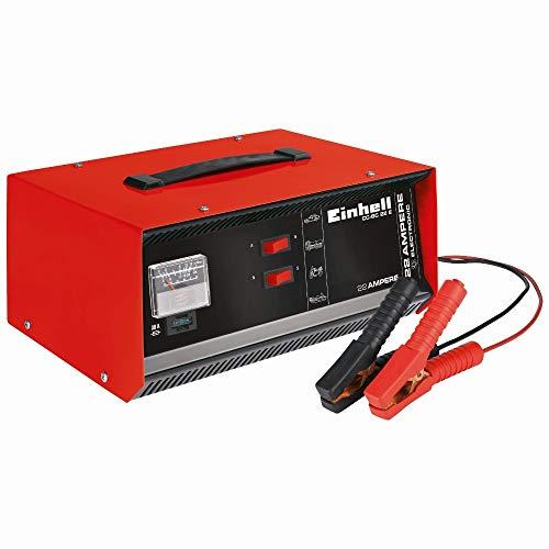 Einhell Batterie-Ladegerät CC-BC 22 E (12 V, für Batterien von 5-300 Ah, Ladeelektronik, Stahlblechgehäuse, inkl. Ladeleitung mit Polzangen)