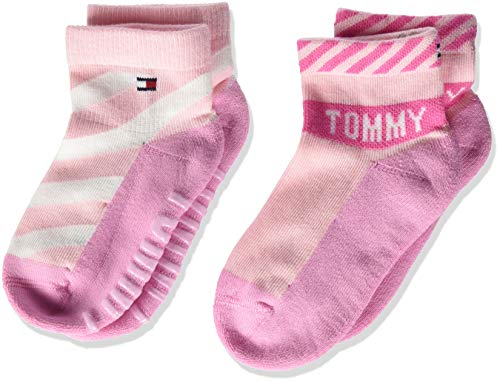 Tommy Hilfiger Th Baby Sock 2p Bold Calcetines, Rosa (Pink Combo 024), 15-18 (Pack de 2) para Bebés