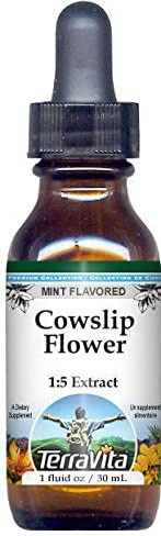 Cowslip Flower Glycerite Liquid Extract Genuine Free Shipping 1:5 Sale 1 Flavored Mint -