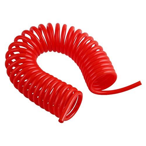 Elementos neumaticos Manguera de compresor de aire neumático de 3 m / 6M / 9M / 12M / 15M 6 * 4 mm 8 * 5 mm 10 * 6.5 12 * 8mm Herramienta de tubo espiral de resorte telescópico Piezas neumáticas fácil