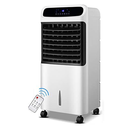 YUYI Climatizadores EVaporativos Enfriador de Aire por evaporación portátil 4 en 1 con Calentador de Ventilador, humidificador y Funciones de purificador de Aire, 3 velocidades de Ventilador con osci