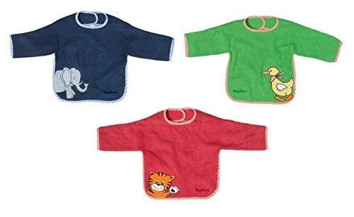 3 Playshoes Lätzchen Playshoes 507461 - Ärmel-Lätzchen blau, rot und grün