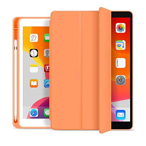 Capa Novo iPad 7a e 8a Geração 10.2″ WB Premium Slim Antichoque com Compart. para Pencil Laranja