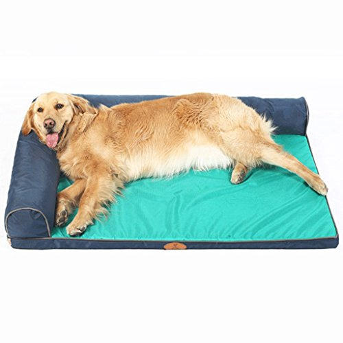 GJ Casa de Mascotas a Prueba de Agua Perrera para Perros Mat Four Seasons Pet Nest Fuentes extraíble y Lavable (Color : Blue (Double-Sided Pillow))