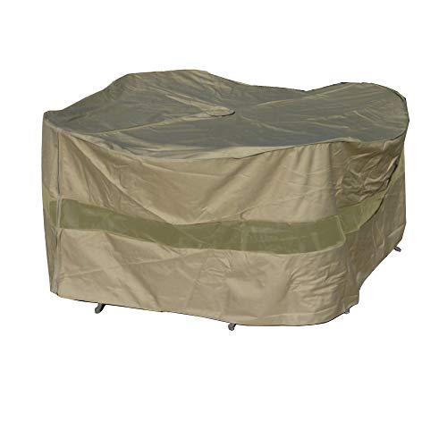 Patio Set Cover 70' Dia. x 30' H, Fits Round or Square Table Set, Center Hole for Umbrella