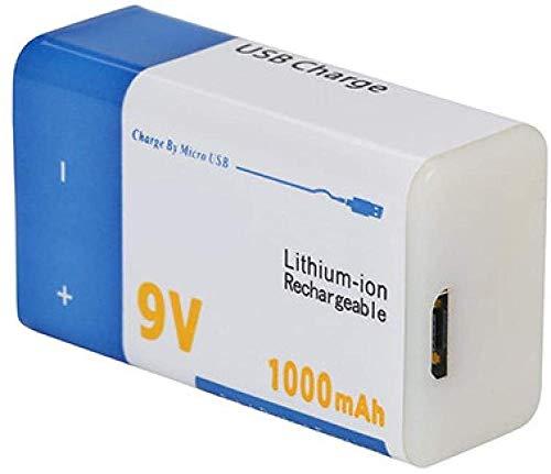 Batería Recargable de Iones de Litio de 9v 1000mah, baterías de Litio USB para multímetro, micrófono, Control Remoto, Ktv-1 Unidad 1000 mah