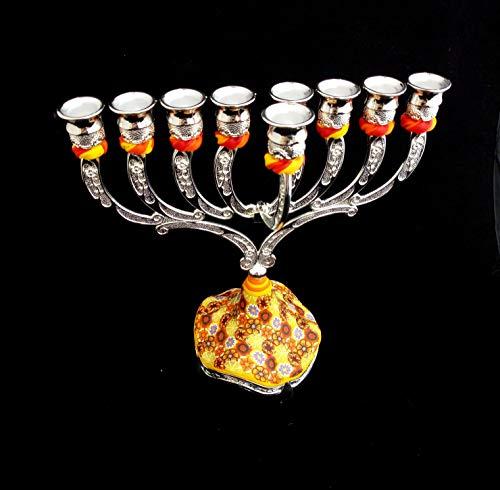 Hanukkah Menorah Candelabra Jewish Gift Made In Israel, Hanukkah Décor Candlestick, Handmade Candle Centerpiece