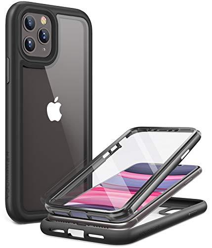 YOUMAKER Coque iPhone 11 Pro Max,Protection Rubuste avec L'écran Intégré,Étui Transparente et Antichoc pour iPhone 11 Pro Max 6.5 Pouces Noir