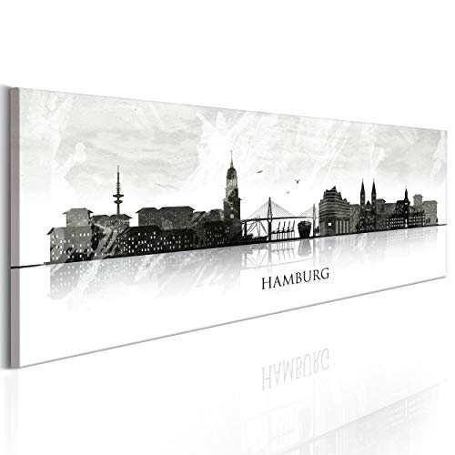 decomonkey Bilder Hamburg 150x45 cm XXL 1 Teilig Leinwandbilder Bild auf Leinwand Vlies Wandbild...