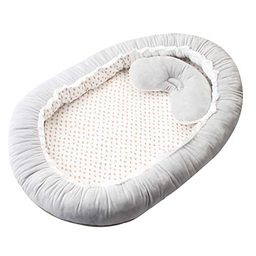 Why Choose iFCOW Baby nest Sleep Pod, Baby Lounger Portable Newborn Crib Soft Breathable Infant Bed Co-Sleeping Bassinet Mattress for 0-1 Year Old Babies