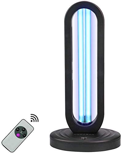 UV Sterilisatie Lamp UVC Deodorizer Air Sanitizer Purifier Geur Eliminators Anti-Bacterial Rate 99% Ultraviolet Kiemdodende met Lamp Base 38W,Timer
