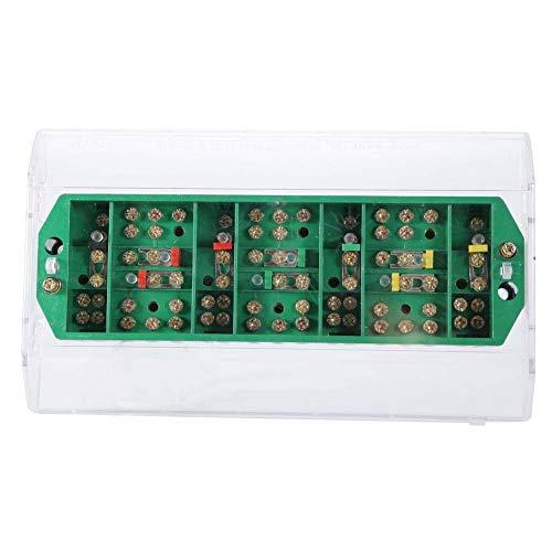 Caja de conexiones antienvejecimiento, 40 ℃ a 60 ℃ 5-20A - 40 ℃ a + 60 ℃ Caja de altavoz de terminal de plástico y metal hecho (transparente)
