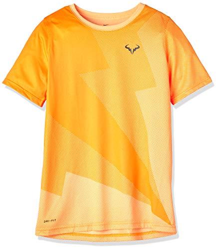 Nike Boys Nkct Rafa Gx Tee-AR2384, Camiseta, Mujer, Orange (Melon Tint/Thunder Grey), XS