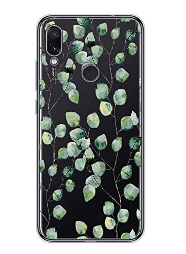 Suhctup - Carcasa de silicona transparente para Xiaomi Mi 9T / Mi 9T Pro ultrafina con diseño de flores, flexible, antigolpes, A3