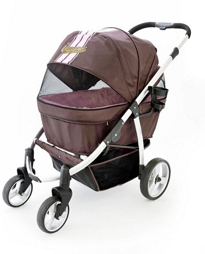 InnoPet Buggy de Aluminio Perros hasta 35 kg, Color Brown Pink