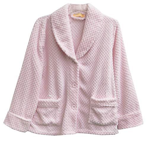 LA CERA Fleece Bed Jacket