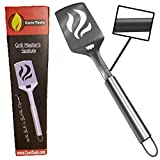 Barbecue Spatula With Bottle Opener - Heavy Duty 20% Thicker Stainless Steel - Wide Metal Grilling...