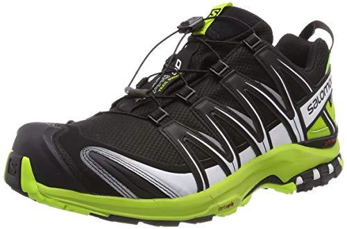 Salomon Herren Trail Running Schuhe, XA PRO 3D GTX, Farbe: schwarz/lime (Black/lime Green/ White) Größe: EU 42 2/3