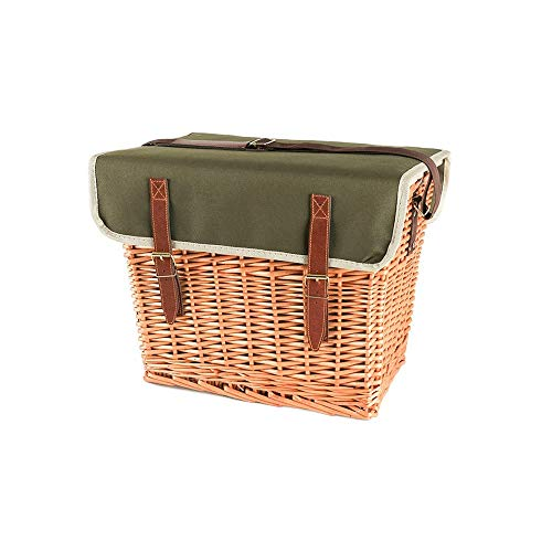 Z-Color 4 Person Luxus Wicker Picknickkorb Set mit eingebautem Chiller-Fach & Accessoires - Geschenkideen for Weihnachten, Valentinstag, Muttertag