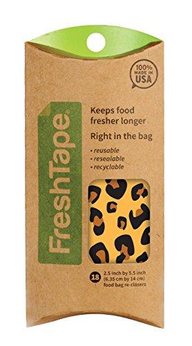 FreshTape Food Bag Re-Sealer, Retro Design, Set of 18