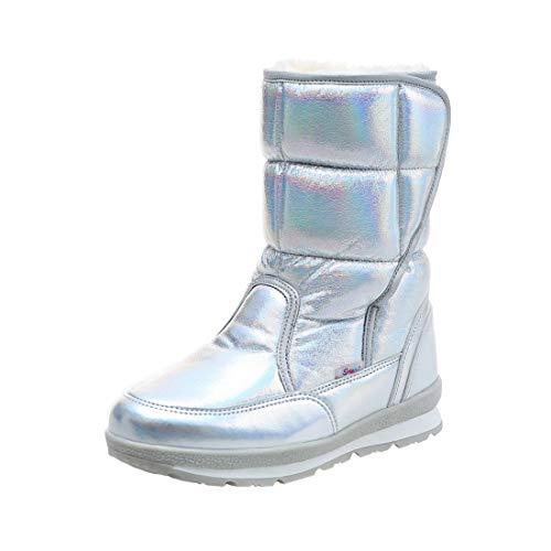 Cool&D Damen Schneestiefel Mädchen Winterstiefel Warm Gefütterte Stiefel Winter Schuhe Mutter Tochter Schneestiefel