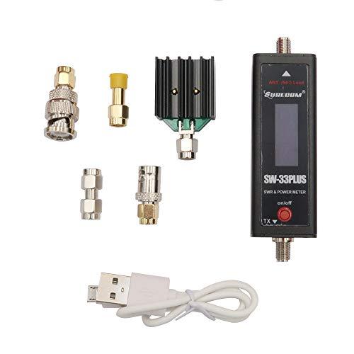 Mcbazel SURECOM SW-33 Plus VHF/UHF 125-525 MHz Mini RF Power & SWR Handfunkgerät