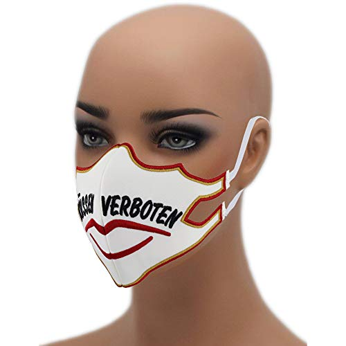 KÜSSEN VERBOTEN ☆60° waschbarer Mundschutz☆Mehrweg ➤Wiederverwendbar Face Mask