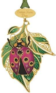 Beacon Design Nature Namedrop Lady Bug Ornaments, 2.6 X 3.46 Inch