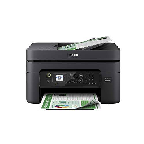 Epson Workforce WF-2830 All-in-One Wireless Color Printer with Scanner, Copier and Fax (Renewed)