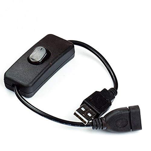 N / A USB-Kabel, Stecker auf Buchse, mit Ein-/Aus-Schalter, Verlängerungs-Kipp, für USB-Lampe, USB-Ventilator, LED-Lichtleiste, Stromkabel, 2 A Stromstärke, Heimzubehör