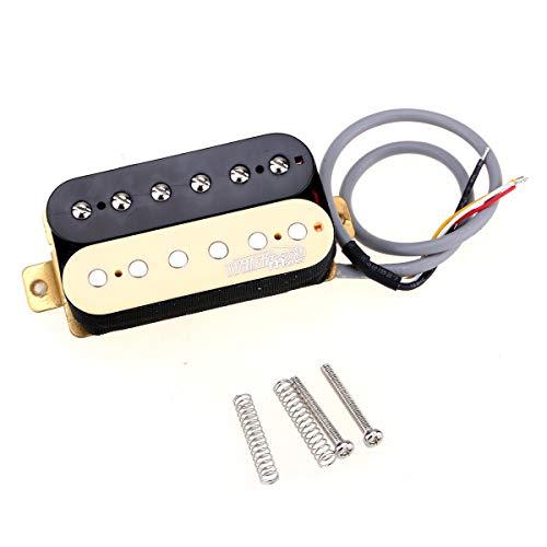 Wilkinson Tono Clásico Cerámica Overwound Estilo Abierto Pastillas Humbucker Pickups Set para Guitarra Eléctrica, Zebra