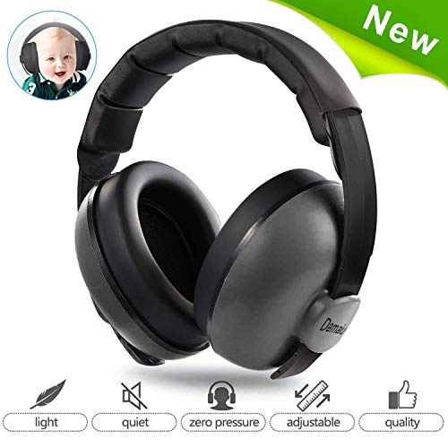 Image of Baby Ear Protection,Noise Cancelling Headphones for Kids for 0-3 Years Babies,Toddlers,Infant for Sleeping Airplane Concerts Theater Fireworks,Baby Earmuffs (Black)