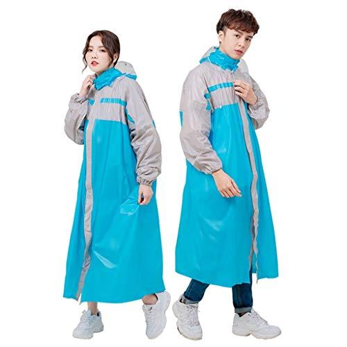 Regenjas, Verhoog Windjekker Cover Voeten mannen en vrouwen in Voet Moto Fiets Poncho Individual (Color : Blue, Size : XXL)