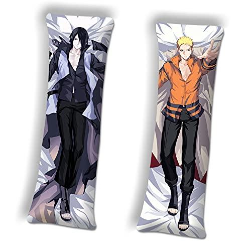 Boys Body Pillow Pillowcase Naruto Uzumaki Sasuke Uchiha Anime Boys Body Pillows Body Pillow Case Dakimakura 39.3in x13.3 in Peach Skin