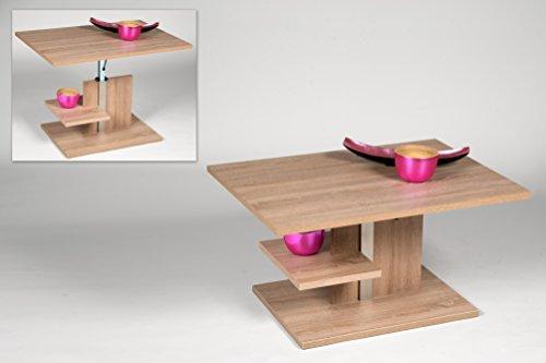 Alfa-Tische Uno- Lift Mesa de saln, Material de Madera, Roble Sonoma, Mittel
