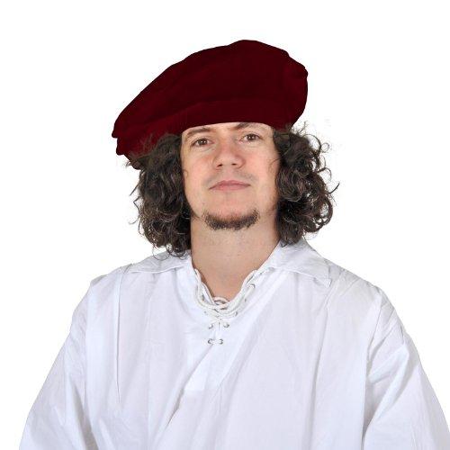 Jeu de rôle GN - Béret en velours rouge