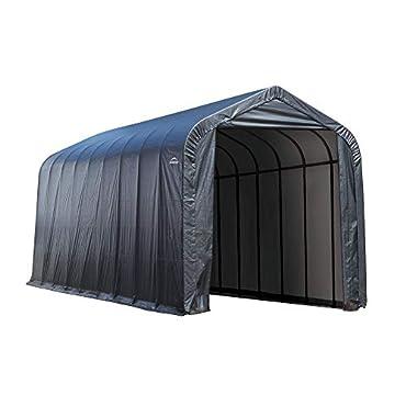 ShelterLogic 95370 Garage 15 x 24 x 12  Peak Standard Grey