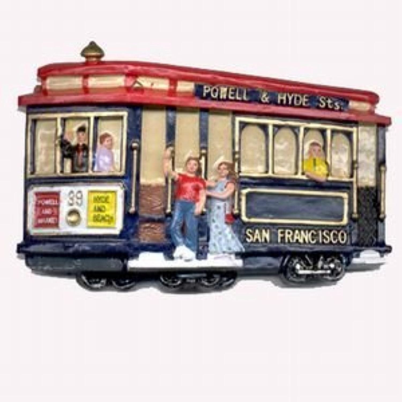 (37 18) Aihommet de San Francisco Cable voiture personnes Poly 3d 7,6cm 56389
