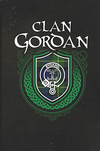 Clan Gordan: Scottish Tartan Family Crest - Blank Lined Journal with Soft Matte Cover [Idioma Inglés]