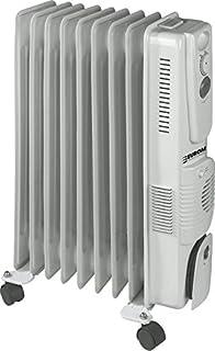 Euromac RK2009T Color blanco 2000W Radiador - Calefactor (Radiador, Piso, Color blanco, Metal, De plástico, Botones, Giratorio, 2000 W)