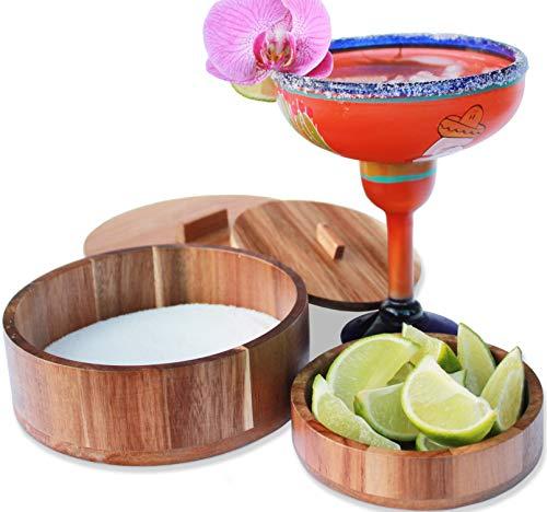 Margarita Salt Rimmer Set - Salt Rimmer for Cocktails - Glass Rimmer...
