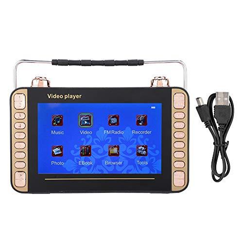 Mini digitale speler, 7-inch draagbare video-radio zingende karaoke-machine MP3 dvd-speler luidspreker, ondersteuning voor USB- en TF-kaart, ondersteuning voor radiofunctie.