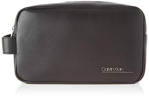 Calvin Klein Herren Ck Bombe' Washbag Taschenorganizer, Schwarz (Blackwhite Black), 1x1x1 cm